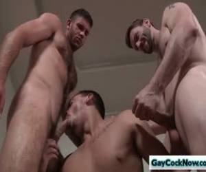 Sexy Hunk Dennis West In Hardcore Threesome Fuck