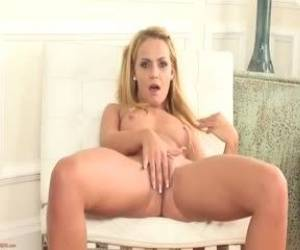 Adorable Blonde Christine Love Fingering Her Pussy