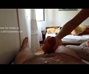 Amateur Mom POV CFNM Handjob And Cumshot