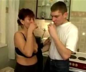 Russian Mom Fucks Son's Friends