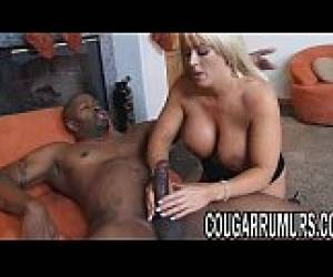 Blonde Cougar With Big Tits Takes A Big Black CockO[0]