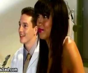 Tanned Shemale In Sexy Lingerie Fucked By Doctor