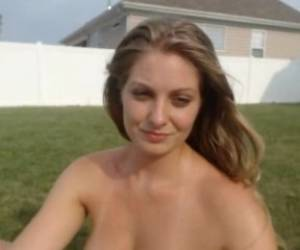 Cam Girl Runs Naked In Yard