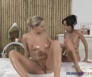 Massage Rooms Stunning Girls Lesbian Fuck Fest Starts With Sensual 69