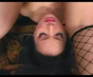 Katsumi Anal And Sex In Sexy Fishnet Lingerie