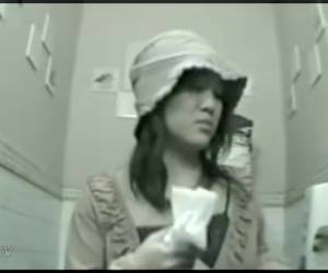 Sexy Doll In Hat On The Spy Cam Toilet Horny Video