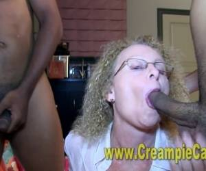 Taylor's 1st Creampie Orgy