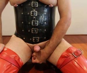 Rubber And Anal Masturbation