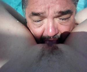 Eating A Fresh Shaved Pussy Pool Side