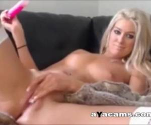 Sexy Blonde Masturbation Toy Play