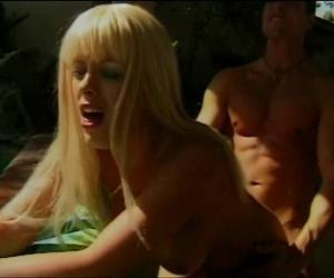 Sexy Blonde With Massive Tits Gets Pussy Licked Deep By The Pool
