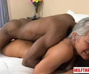 Hot Mature Interracial With Cumshot