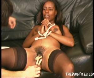 Ebony Pussy Whipping And Breast Bondage For Black Bdsm Slave