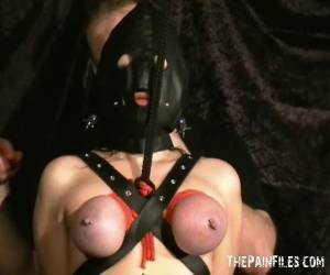 Extreme Mature Slave Girls Hooded Breast Bondage And Vicious