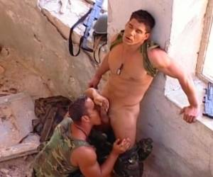 Watch Two Military Gay Hardcore Fuck Outdoor