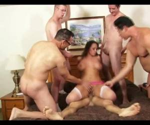 Real Busty Babe Gangbang And Facials