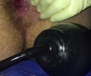 Gaping Asshole Butt Plug And Pump Plug