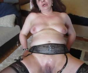 Ugly Arab Mix Russian MILF  Covered In Spunk.