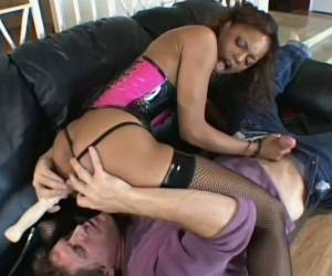White Dude Button Fucks Sexy Ebony Hooker In Reverse Cowgirl Pose Tough