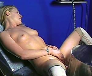 Hot And Horny Blonde Porn Chick Plays With Pussy In Nasty Masturbation