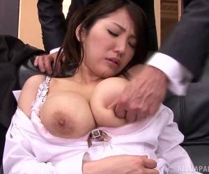 Japanese Cowgirl Forced To Swallow Cum After A Steamy Office Sex Session