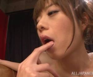 Seductive Skinny Japanese Lesbians Pleasuring Each Other