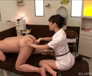 Dainty Japanese Femdom Pegging Her Dude With A Strapon