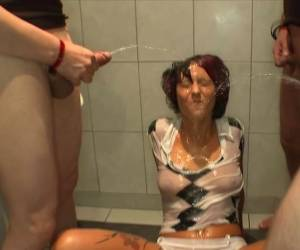 Sexy Babe Adina Is Getting Cum And Urine