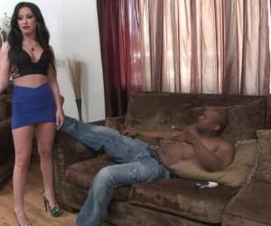 Jennifer White - Brunette MILF Gets Interracial Anal