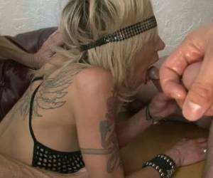MMF Sex Scene With Blindfolded Blonde Wearing A Bodystocking