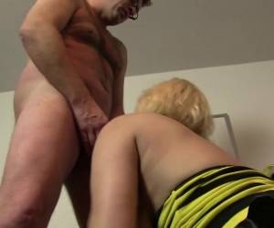 XXX Omas - German Whore Riding Cock While Sucking Cock