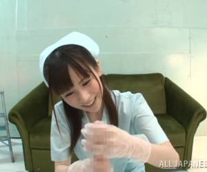 Asian Nurse Makes A Guy Cum With POV Handjob