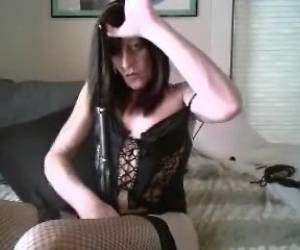 Amateur Ladyboy In Sexy Lingerie Solo