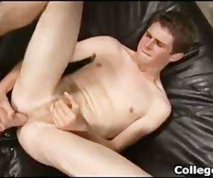 College Hunk Ryan Diehl Plays With Big Dildo (no Cumshot)
