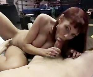 Redhead Ho Shows Off With Cock In Mouth