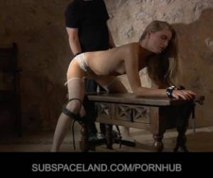 Delicious Blonde Enslaved And Fucked In Stockings