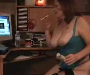 MILF Smoking On Webcam