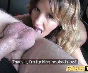 Fake Taxi Rimming Tanned Babe With Tiny Pink Pussy