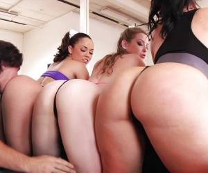 Lucky Dude Fucks Fit Kristina Rose And Friends