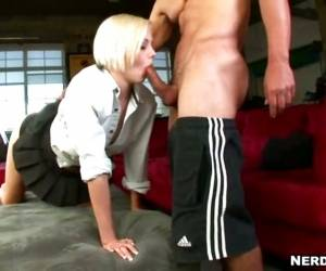 Blondes Do Have More Fun Sucking Cock! Madison Mason Proves It