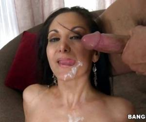 Ava Addams Filled With White Cum On Face