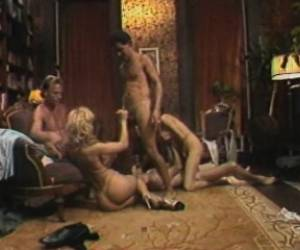 Nina Hartley In Retro Porn Involved In A Bang Up Orgy Making Them Cum