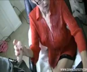 Mature Lady Gets A Massive Cumshot