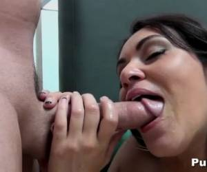 Naturally Busty Charley Chase BJ