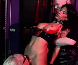 Amateur Brunette Is Tied Up And Fucked Hard By This Horny Couple