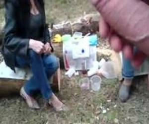 Public Masturbate And Cum On Stranger Mature Woman