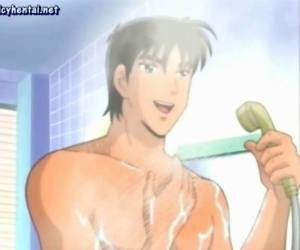 Anime Wife Tasing A Cock At Shower