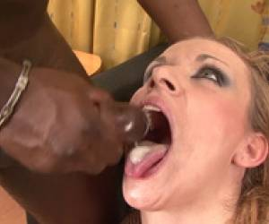 Interracial Blowjob Cumshot Compilation