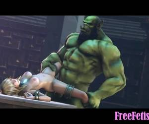 3D Huge Hulk Fucks Tiny Little Blonde Loli - FreeFetishTVcom