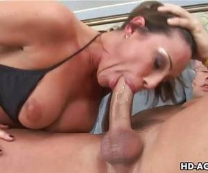 Huge Titted Milf Rammed With A Fat Man Meat